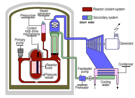 Diagram of a Nuclear Power Plant