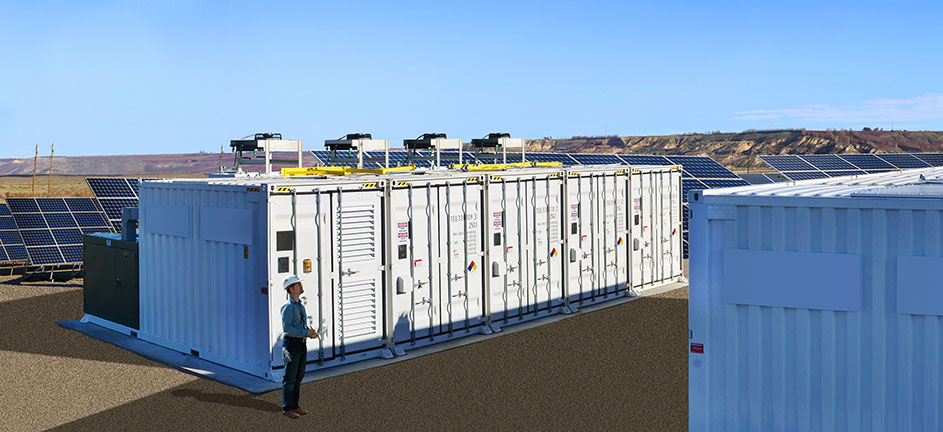 Photo: Solar Battery Storage Units